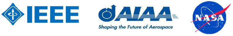 IEEE, AIAA, NASA Logos