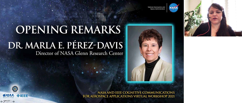 Janette Briones introduces Marla Perez-Davis, NASA Glenn Center Director