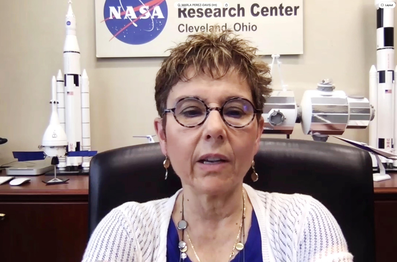 Marla Perez-Davis gives opening remarks